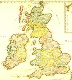 old map of britan